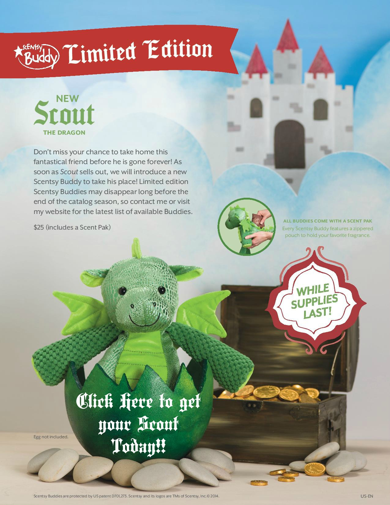 Scensty Buddy - Scout the Dragon