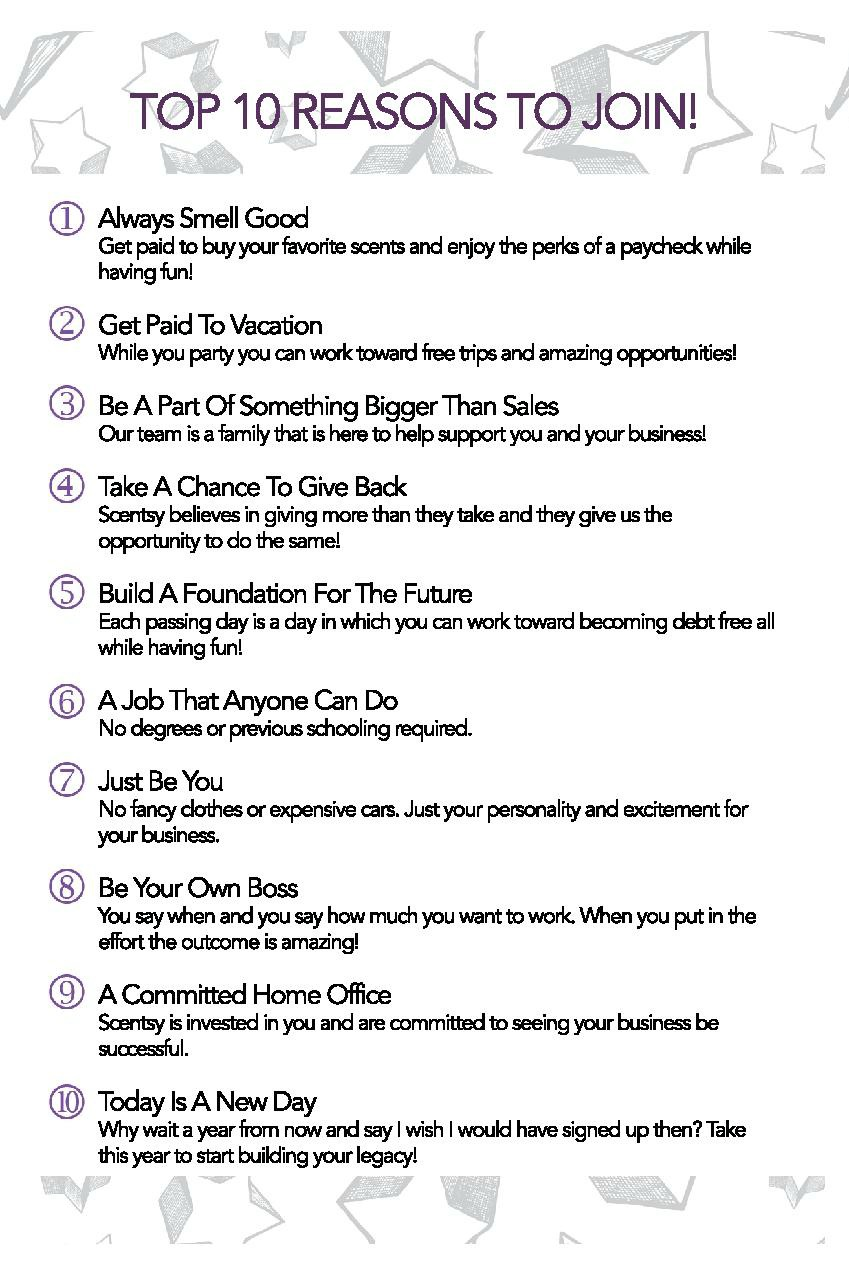 TOP 10 Reasons to Join Scentsy®