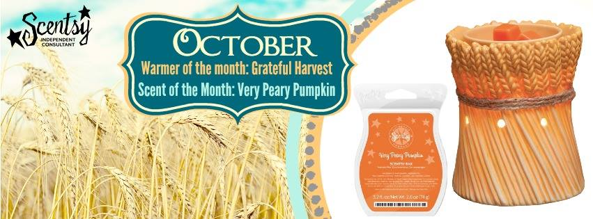 Scentsy® October 2014 Warmer & Scent of the Month