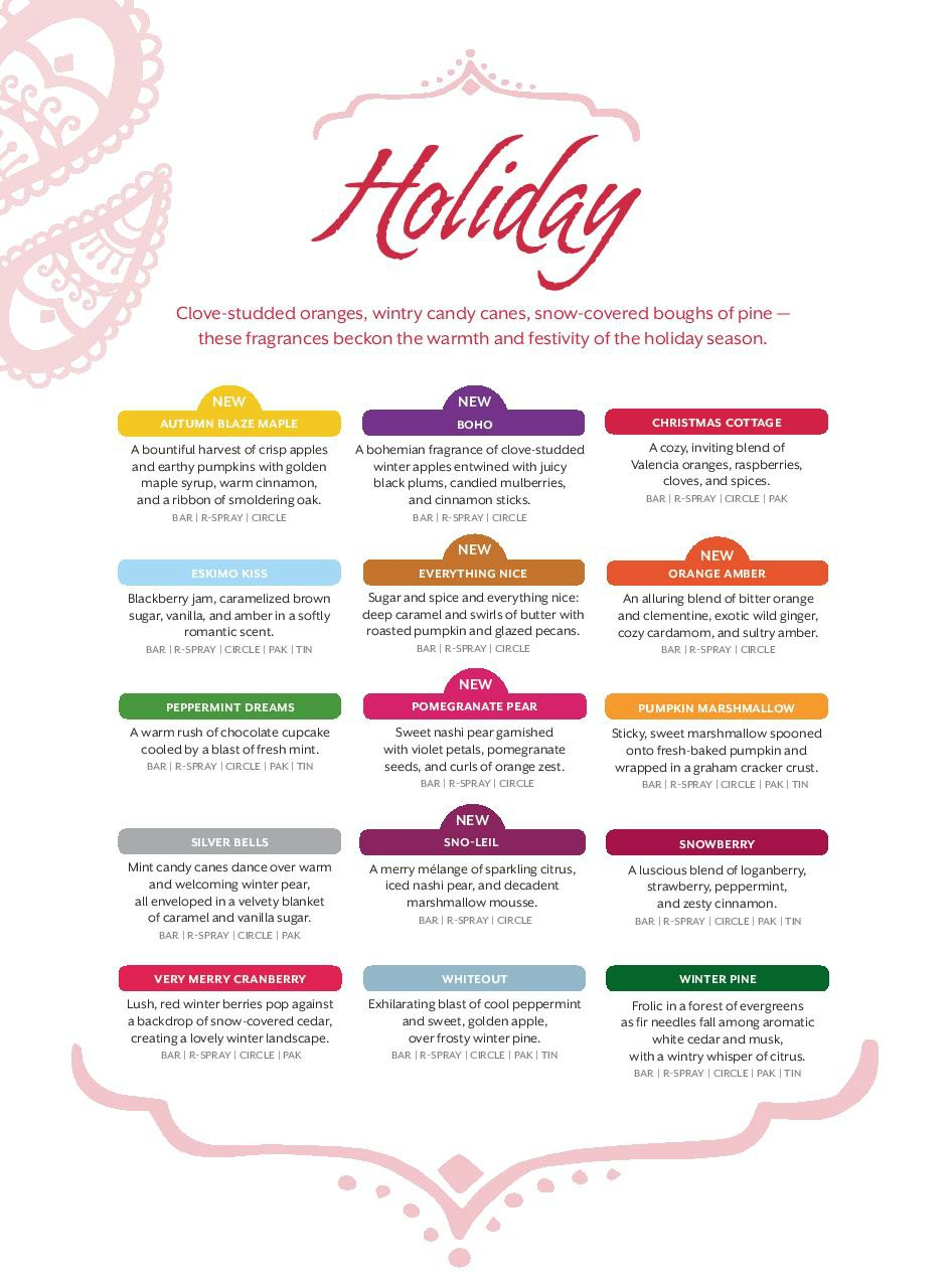 Scentsy 2014 Holiday Scents