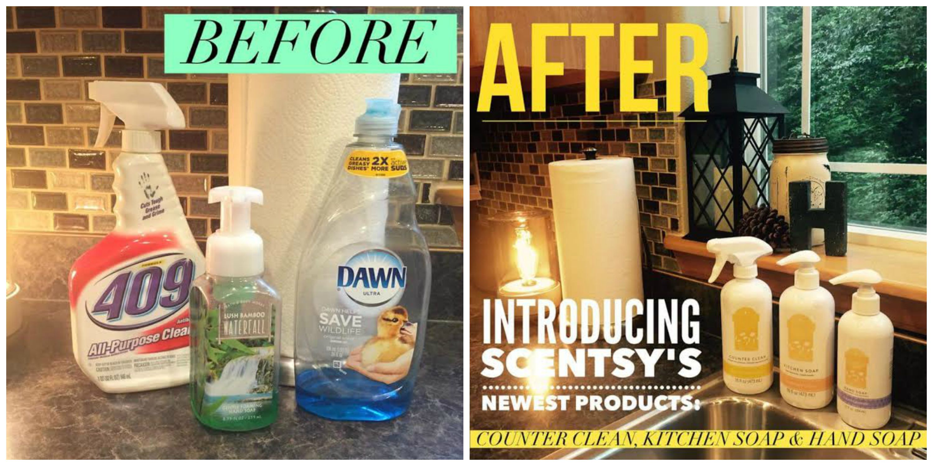 Before /After Scentsy Clean