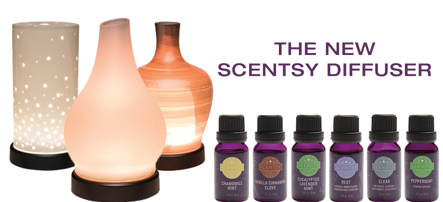 Scentsy Essential Oils and Diffusers