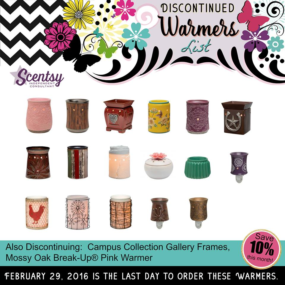 Scentsy Warmers Discontinued