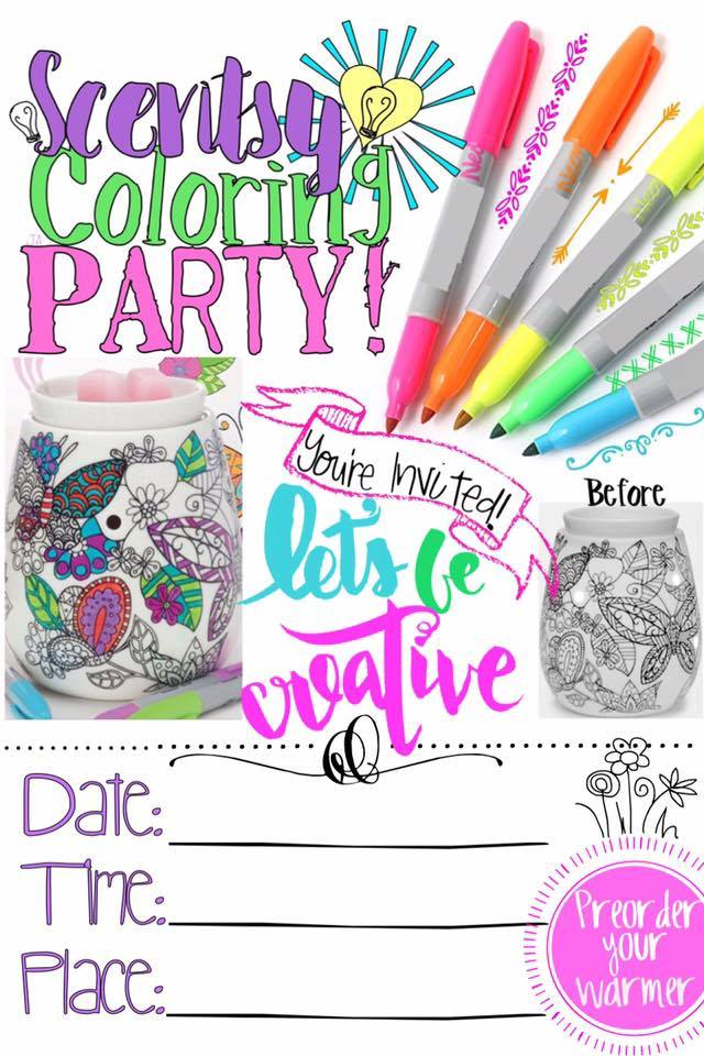 Coloring Party Scentsy