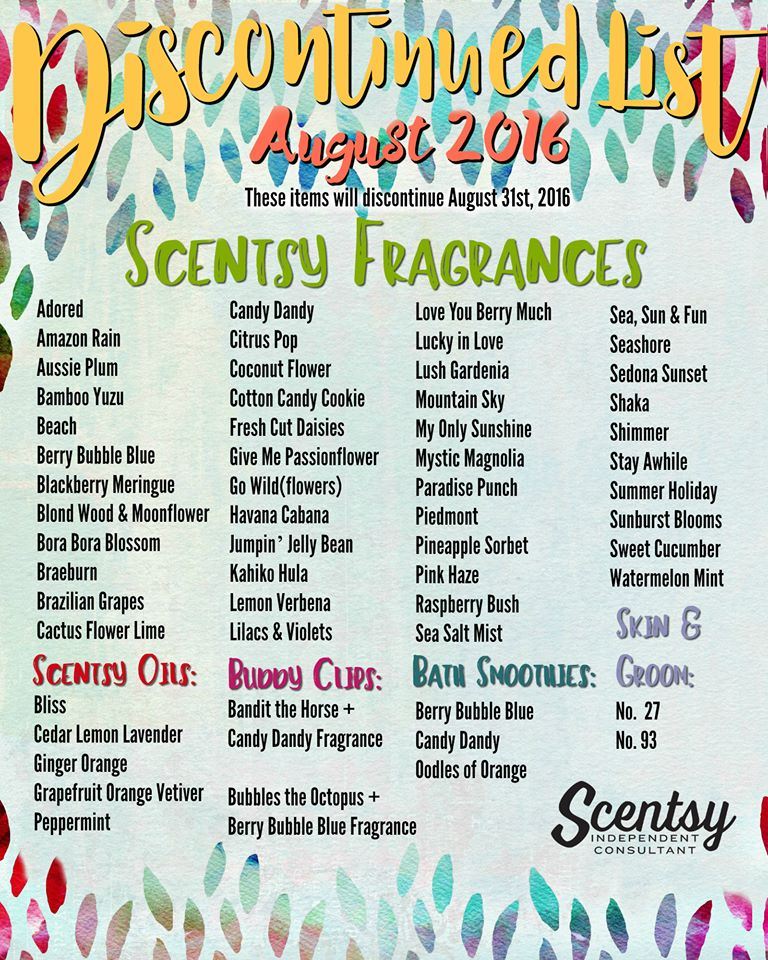 Scentsy Discontinued List