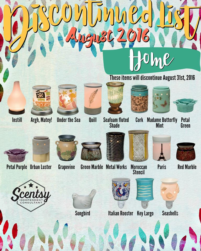Scentsy Discontinued 2016