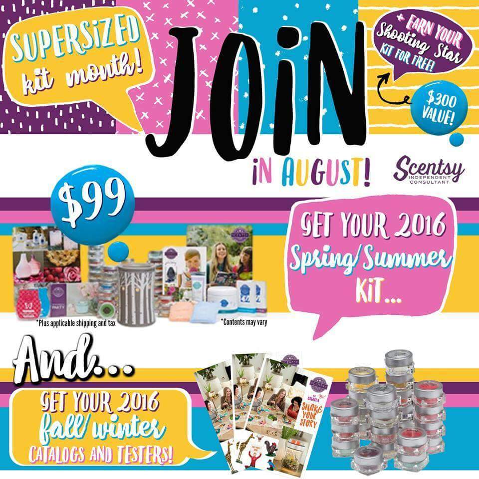 Join Scentsy August 2016
