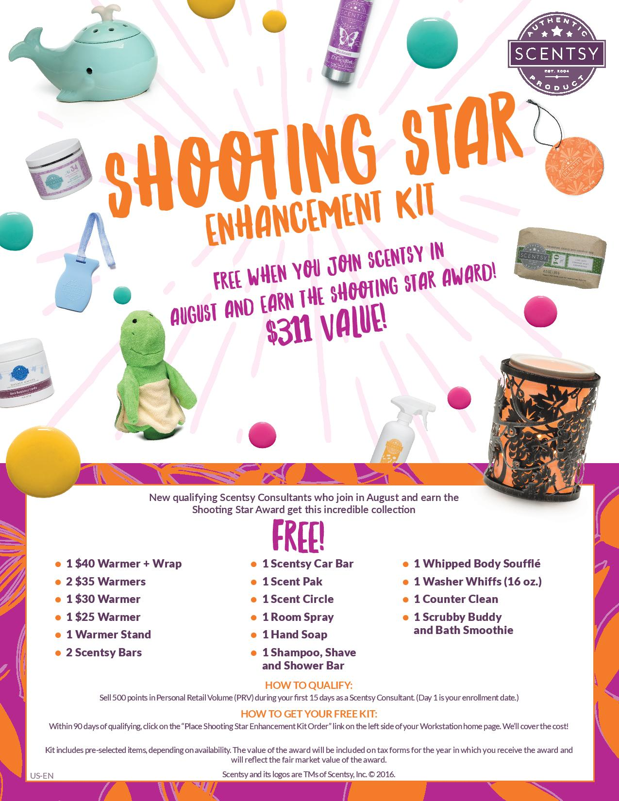 Scentsy Enhanced Bonus Starter Kit - August 2016 - Barbara