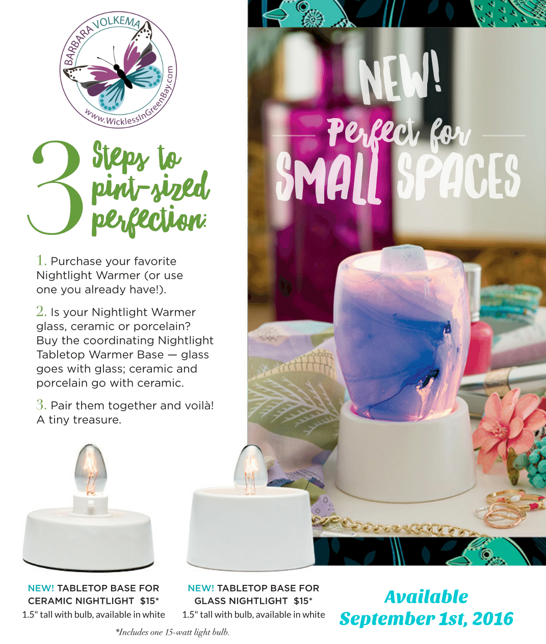 Attractive Less Is Best With Our New Scentsy Tabletop Nightlight Bases!