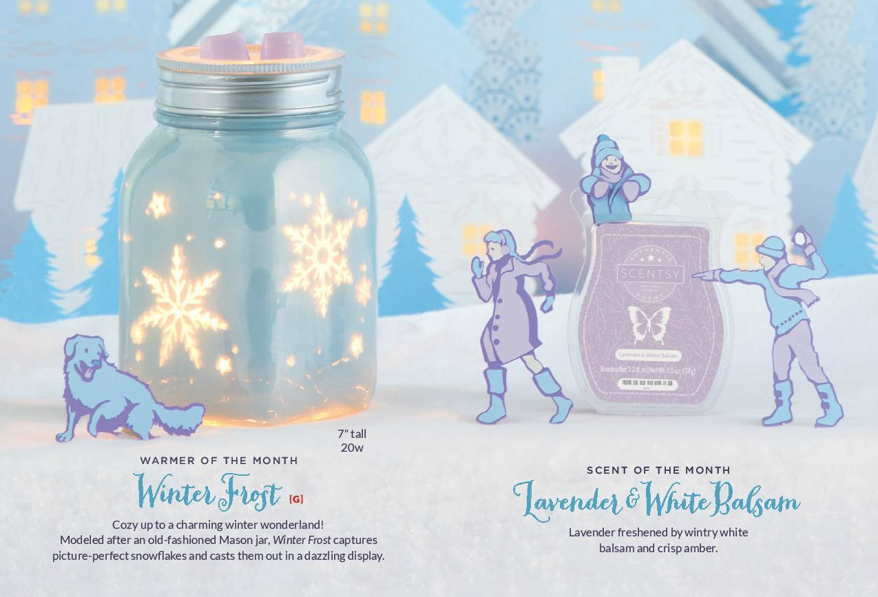 Scentsy November 2016 Warmer and Scent of the Month