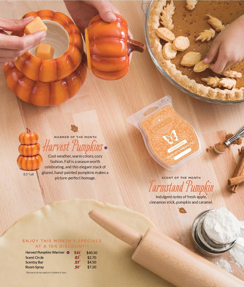 Scentsy October 2016 Pumpkin